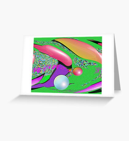 PIng Pongin Space Greeting Card