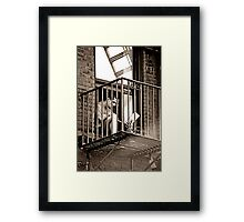 modern enslavement Framed Print