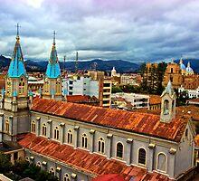Looking Over San Alfonso, Cuenca, Ecuador by Al Bourassa