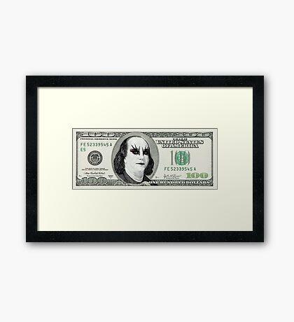 Gothic Banknote Parody Framed Print