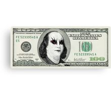 Gothic Banknote Parody Canvas Print