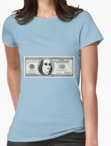 Gothic Banknote Parody Womens Fitted T-Shirt
