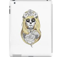 Santa Muerte Blond hair iPad Case/Skin