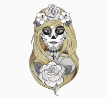 Santa Muerte Blond hair Kids Clothes