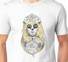 Santa Muerte Blond hair Unisex T-Shirt