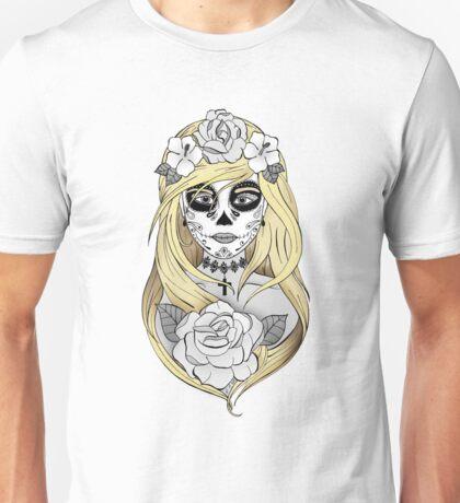 Santa Muerte Blond hair Unisex T-Shirt