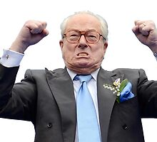 Jean-Marie Le Pen mad by fireblade78