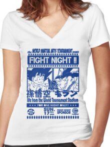World Martial Arts Tournament Women's Fitted V-Neck T-Shirt