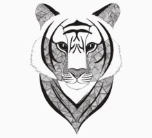 Tiger black and white One Piece - Long Sleeve