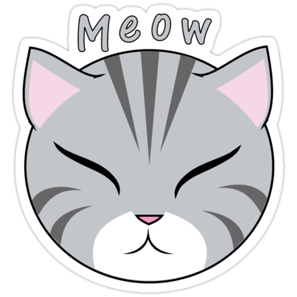 Meow Gray Cat by Oubliette