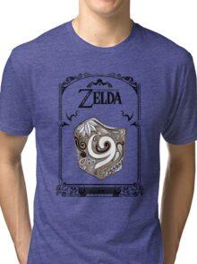 Zelda legend Kokiri shield Tri-blend T-Shirt