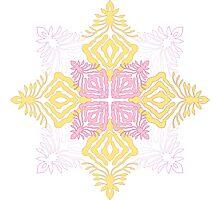 flower pod - papercut patterns Photographic Print