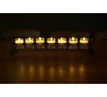 Friendly Candle Light Photographic Print