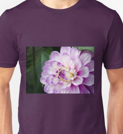 Soft Purple and White Dahlia Unisex T-Shirt