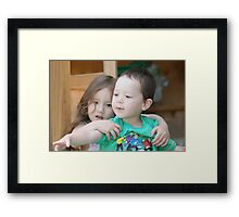 Zoe and Marcus - 28 December 2006 Framed Print