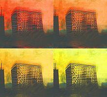 burning skies  by jamesferdart