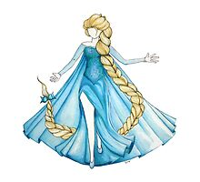 Elsa in the air (Frozen) by studinano