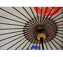 White umbrella, Kyoto, Japan Photographic Print