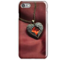 Heart shaped pendant iPhone Case/Skin