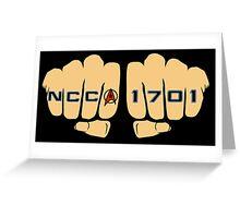 Star Trek NCC 1701 Fist Tattoos Greeting Card
