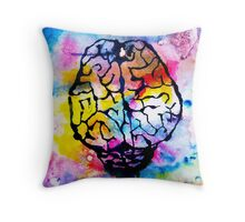 colourful mind Throw Pillow