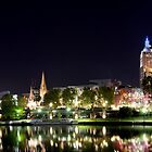Melbourne Night Panorama by James Torrington