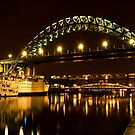 The Tyne at Night by Alan Watt