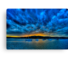 Blue Storm - Newport - The HDR Experience Canvas Print