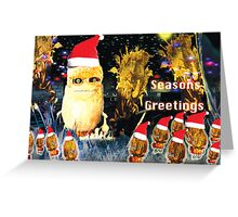 The bugs try to get festive. Greeting Card
