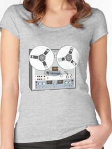 Reel Vintage Tape Deck Women's Fitted Scoop T-Shirt