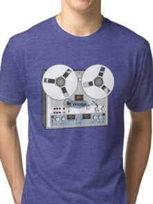 Reel Vintage Tape Deck Tri-blend T-Shirt