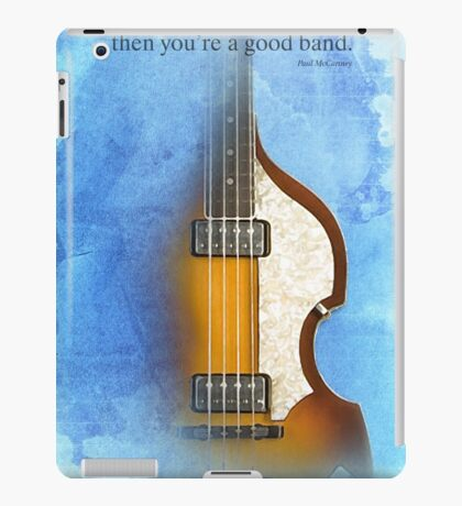 blue bass iPad Case/Skin