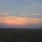 Nuclear-like Cloud Explosion at Sunset by Huey