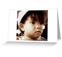 The little girl from Lak Lake, Vietnam Greeting Card
