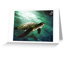 The turtle in the sea Greeting Card