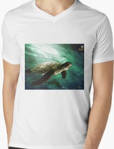 The turtle in the sea Mens V-Neck T-Shirt