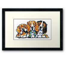 3 Beagles Framed Print