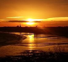 Sunset over Bridlington by Merice  Ewart-Marshall - LFA