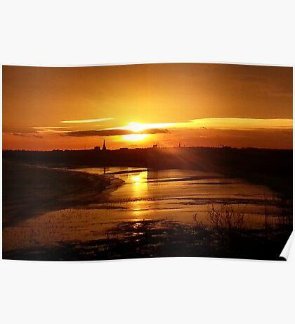 Sunset over Bridlington Poster