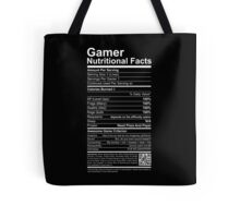 Gamer Nutritional Facts Tote Bag