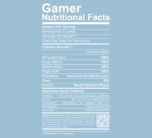 Gamer Nutritional Facts One Piece - Short Sleeve