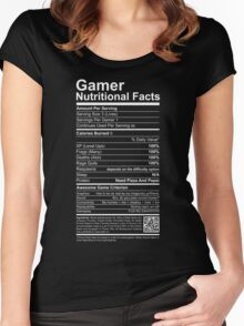 Gamer Nutritional Facts Women's Fitted Scoop T-Shirt