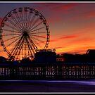 Sunset over Blackpool pier by Shaun Whiteman