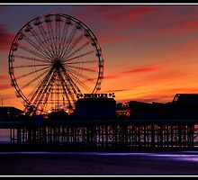 Sunset over Blackpool pier by Shaun Whiteman