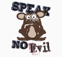 Speak No Evil Monkey Tee (fur) One Piece - Short Sleeve