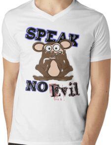 Speak No Evil Monkey Tee (fur) Mens V-Neck T-Shirt