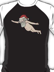 Rick & Morty - Giant Naked Sky Santa! T-Shirt