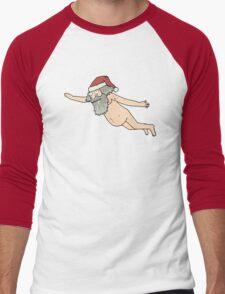 Rick & Morty - Giant Naked Sky Santa! Men's Baseball ¾ T-Shirt