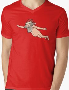 Rick & Morty - Giant Naked Sky Santa! Mens V-Neck T-Shirt