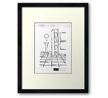 In remember : Bottle in Bathroom Framed Print
